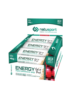 NatuSport Energy Performance Bar Oat&Fruit - Red Fruit Cranberry 12 x 46 gram
