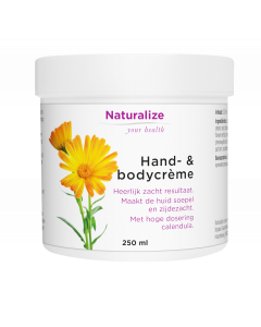 Naturalize Hand- & bodycrème 250 milliliter