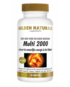 Golden Naturals Multi 2000 30 tabletten