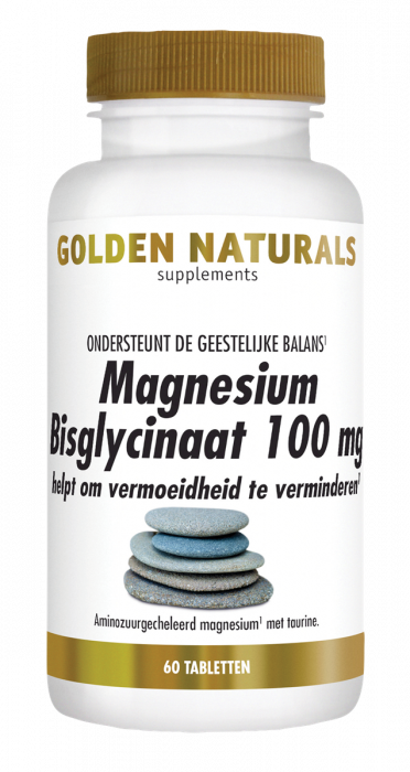 Golden Naturals Magnesium Bisglycinaat 100 mg 60 tabletten