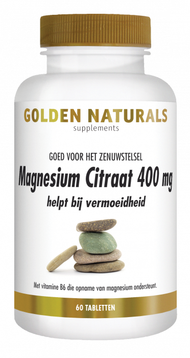 Golden Naturals Magnesium Citraat 400 mg 60 vegetarische tabletten