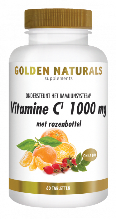 Golden Naturals Vitamine C 1000 mg met rozenbottel 60 vegetarische tabletten