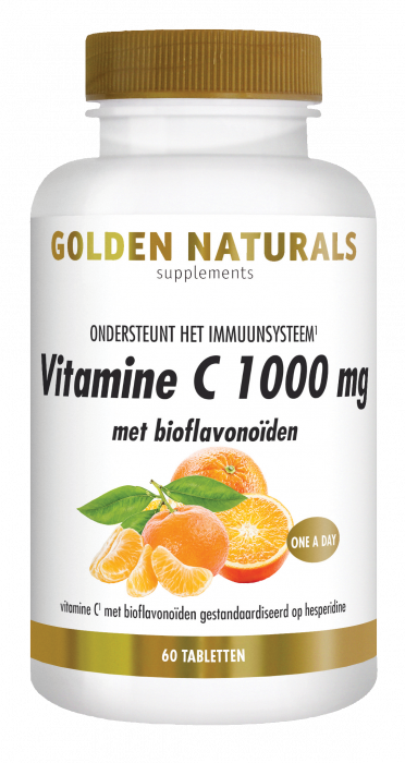 Golden Naturals Vitamine C 1000 mg met bioflavonoïden 60 vegetarische tabletten