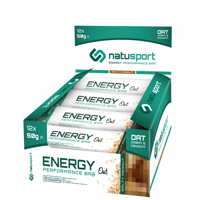 NatuSport Energy Performance Bar Oat - Salty Peanut 12 x 50 gram