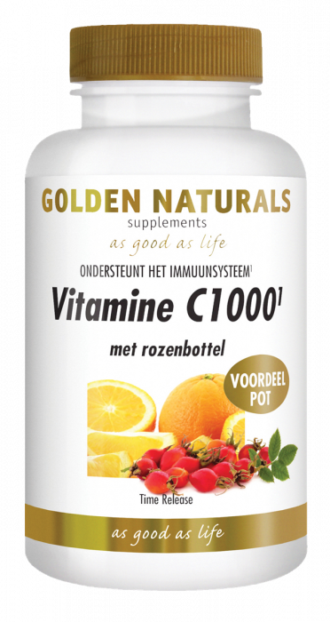 Golden Naturals Vitamine C1000 Rozenbottel 250 tabletten