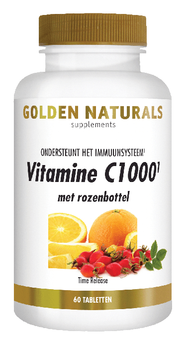 Golden Naturals Vitamine C1000 Rozenbottel 60 tabletten