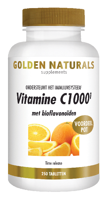 Golden Naturals Vitamine C1000 met bioflavonoïden 250 tabletten