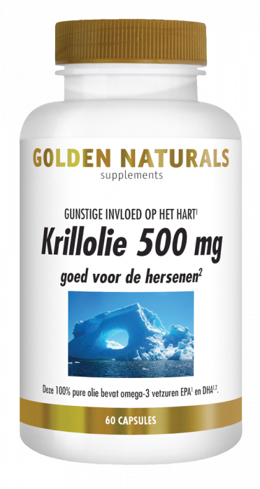 Golden Naturals Krillolie 500 mg 60 softgel capsules
