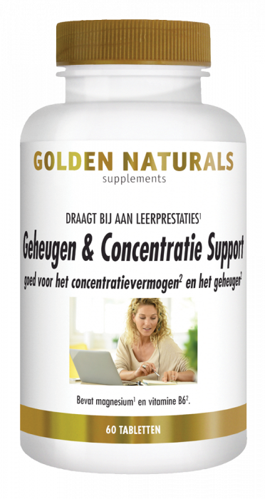 Golden Naturals Geheugen & Concentratie Support 60 vegetarische capsules