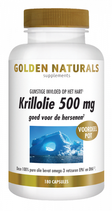 Golden Naturals Krillolie 500 mg 180 softgel capsules