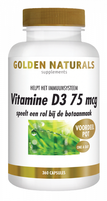 Golden Naturals Vitamine D3 75 mcg 360 softgel capsules