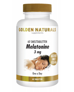 Golden Naturals Melatonine 3 mg 60 smelttabletten
