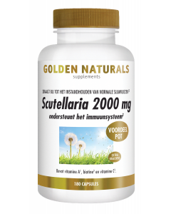 Golden Naturals Scutellaria 2000 mg 180 vegetarische capsules