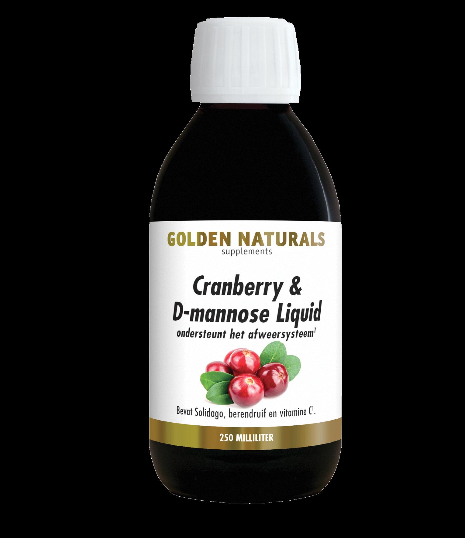 Golden Naturals Cranberry & D-mannose Liquid (250 milliliter)