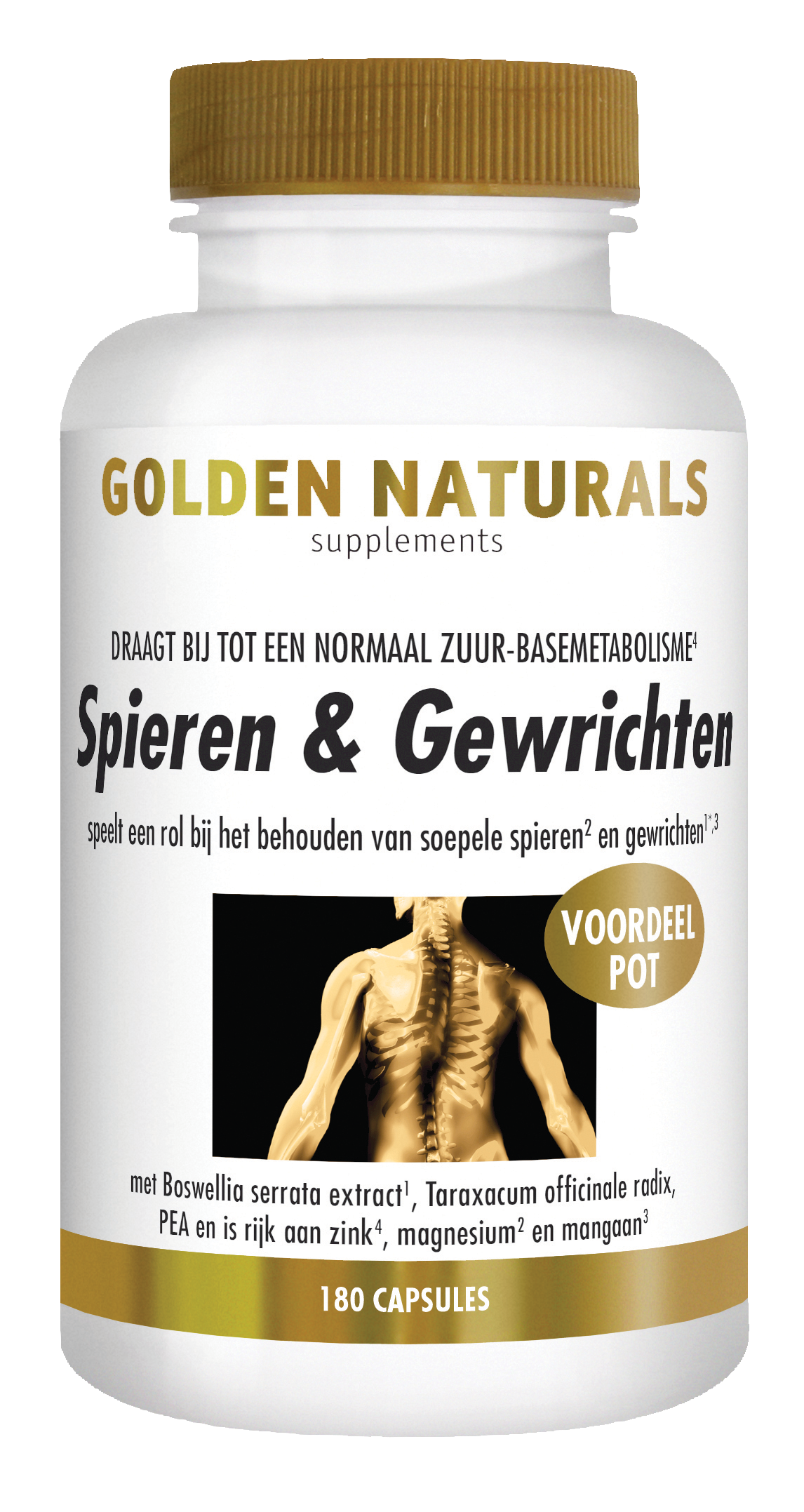 Golden Naturals Spieren & Gewrichten (180 capsules)
