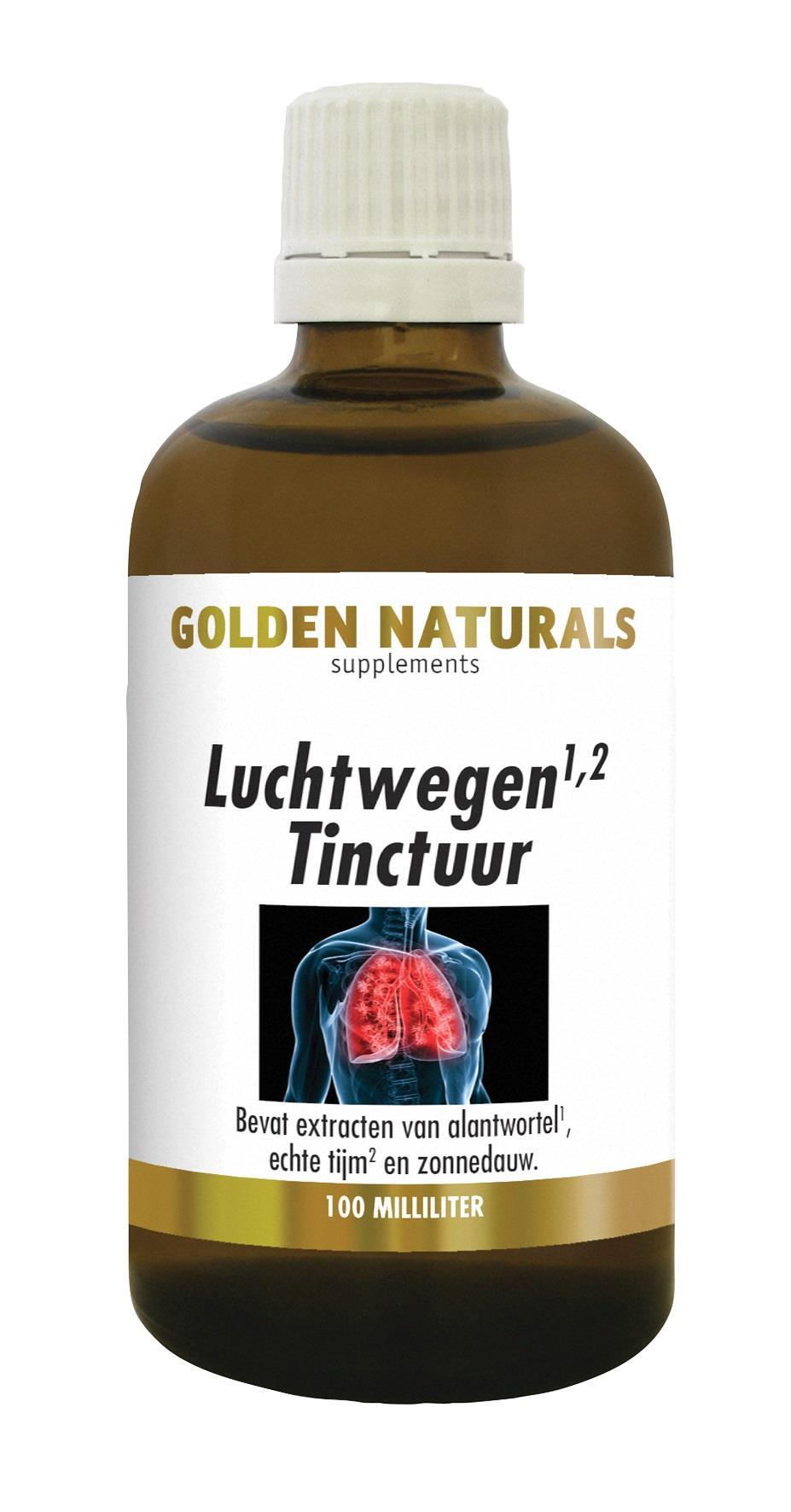 Golden Naturals Luchtwegen Tinctuur (100 milliliter)