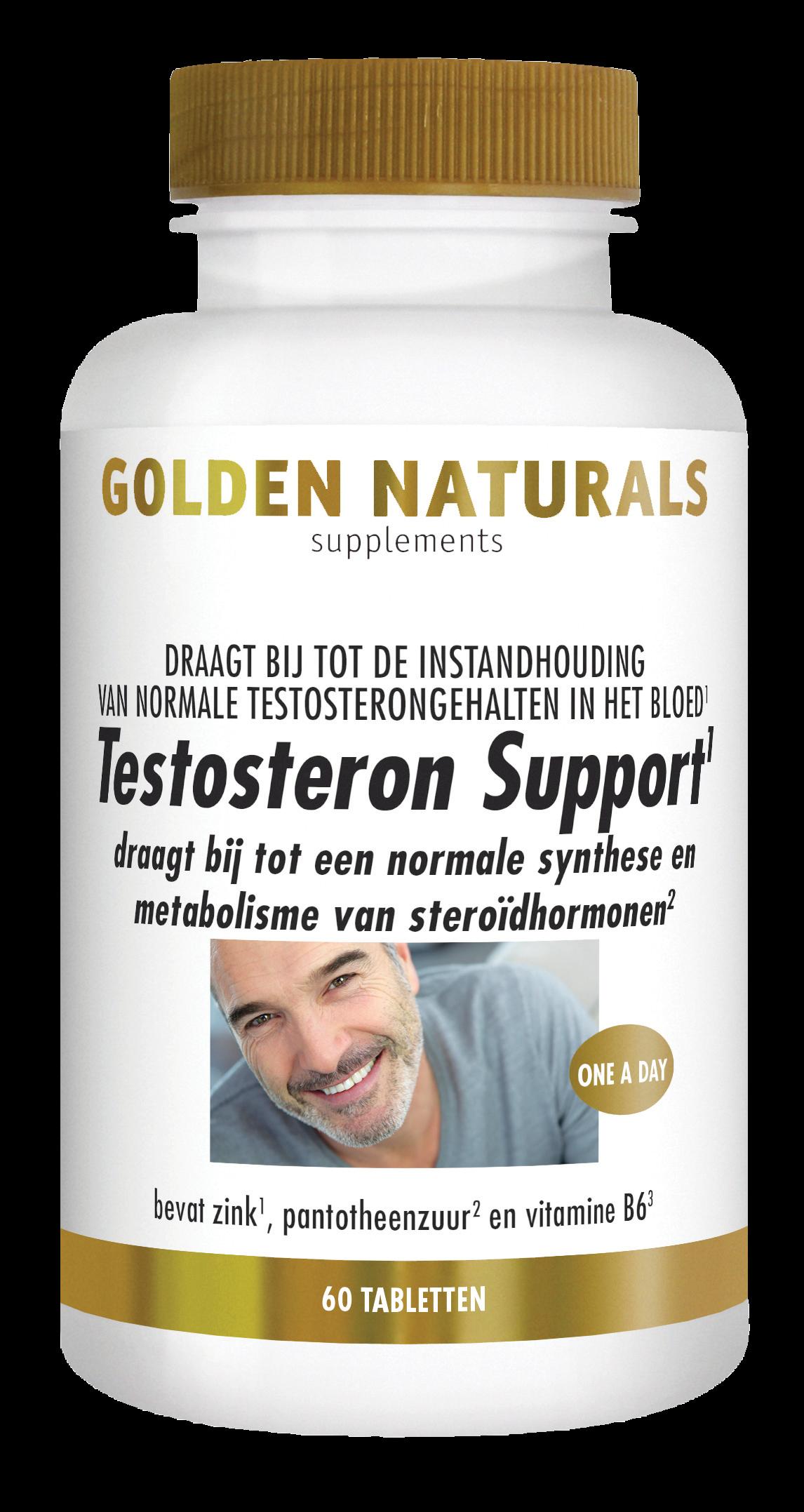 Golden Naturals Testosteron Support (60 veganistische tabletten)