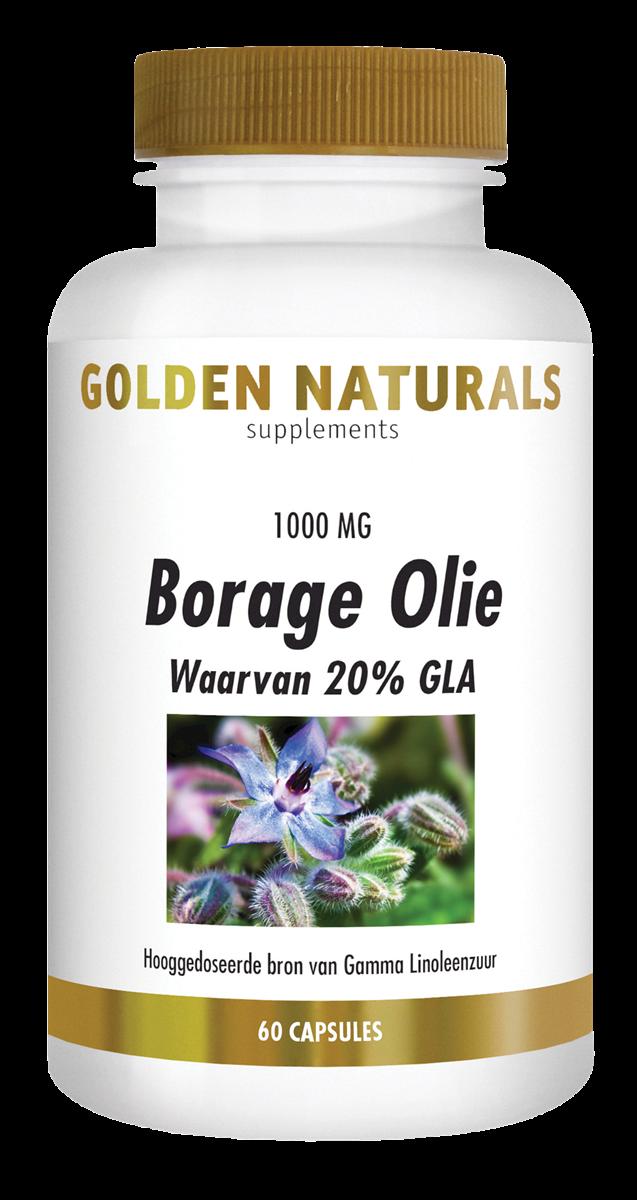 Golden Naturals Borage Olie (60 capsules)