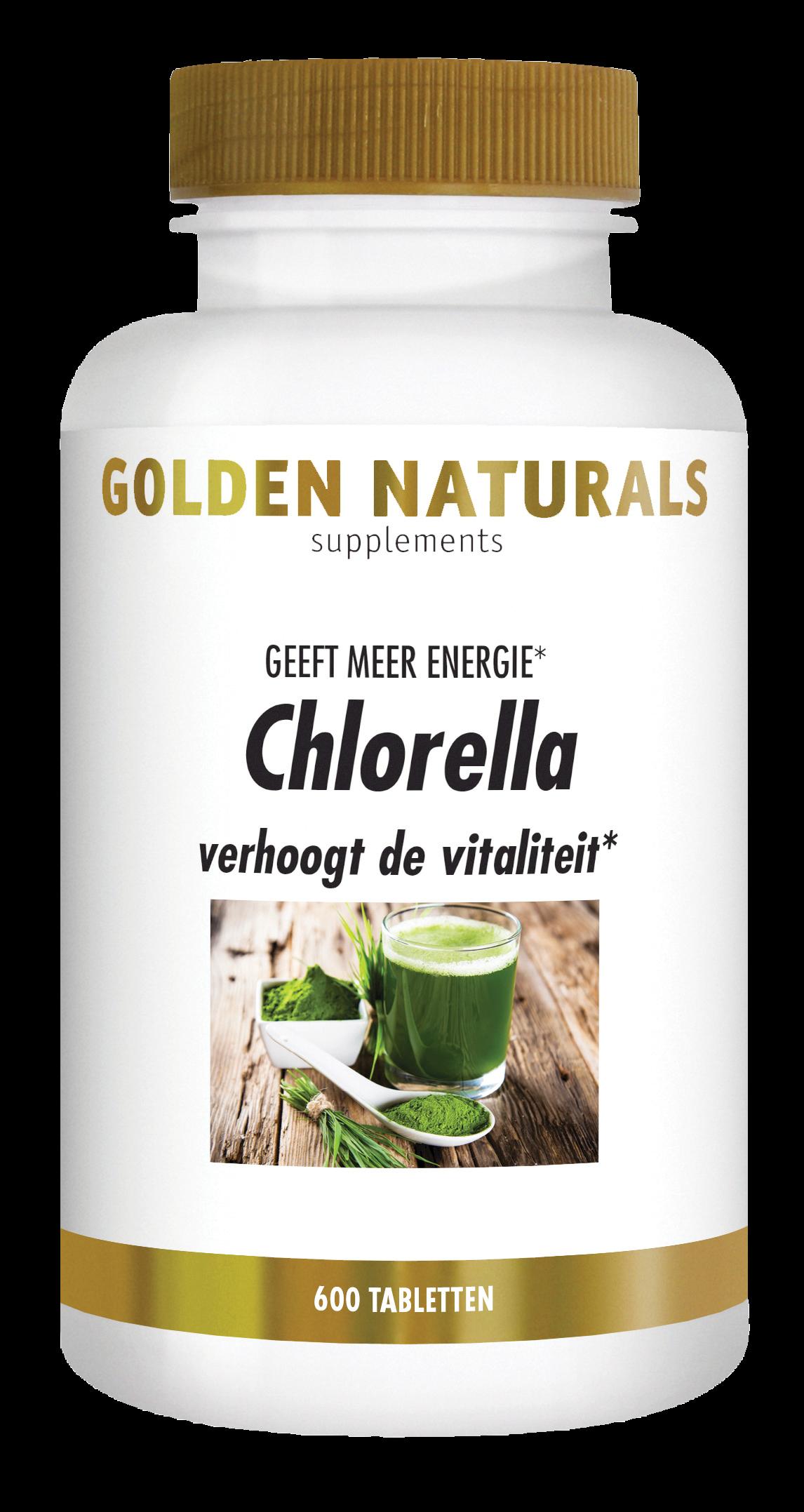 Golden Naturals Chlorella (600 veganistische tabletten)