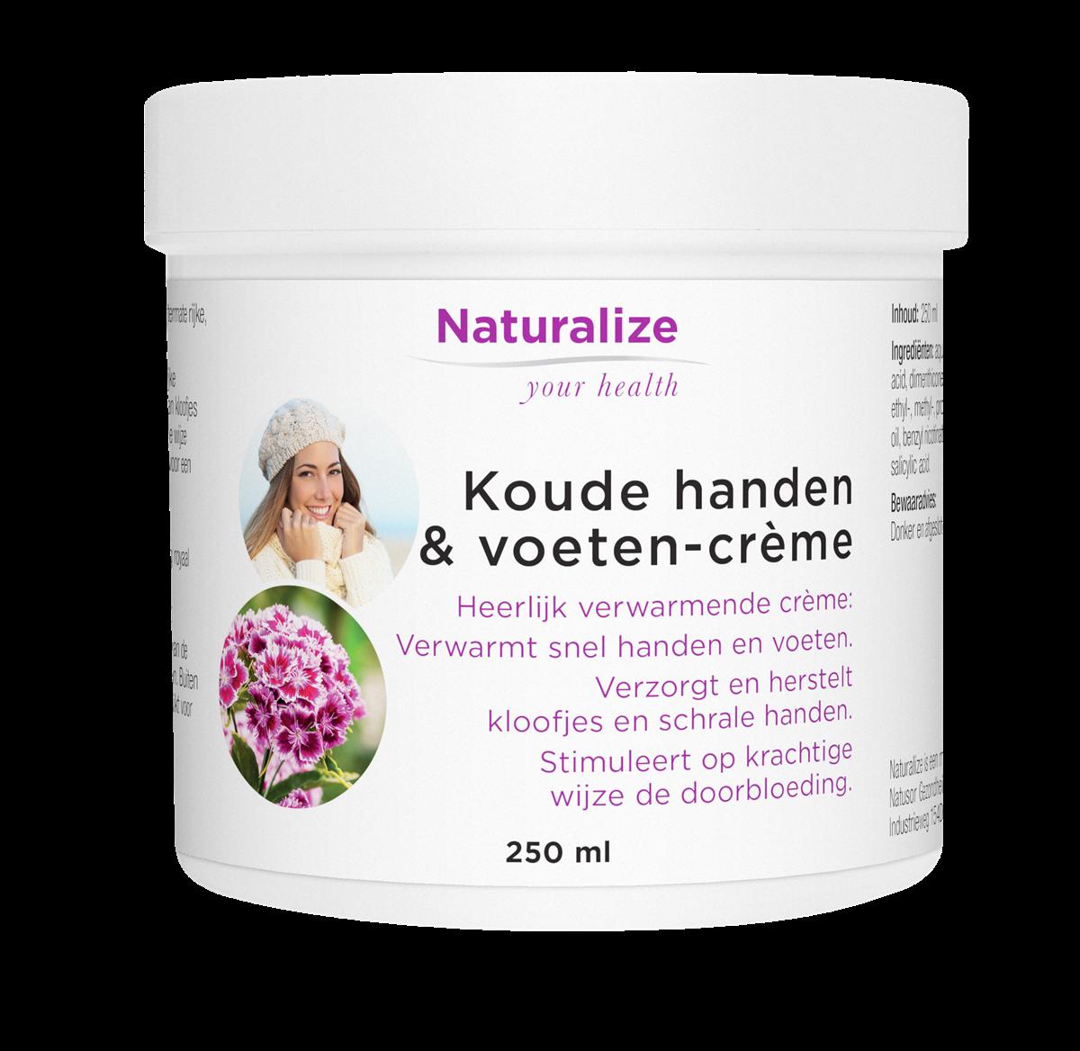 Naturalize Koude handen & voeten-crème (250 milliliter)
