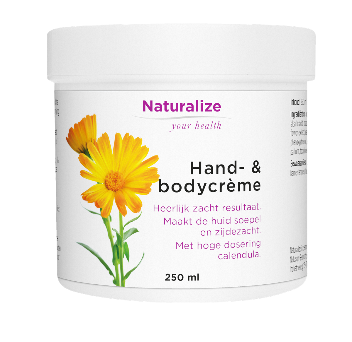 Naturalize Hand- & bodycrème (250 milliliter)