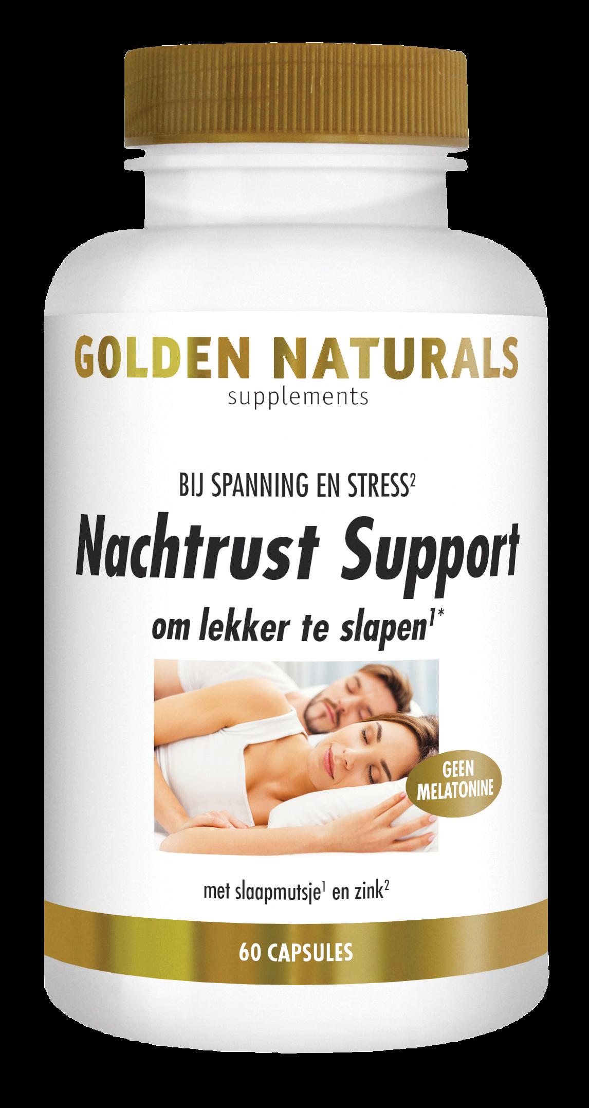 Golden Naturals Nachtrust Support (60 veganistische capsules)