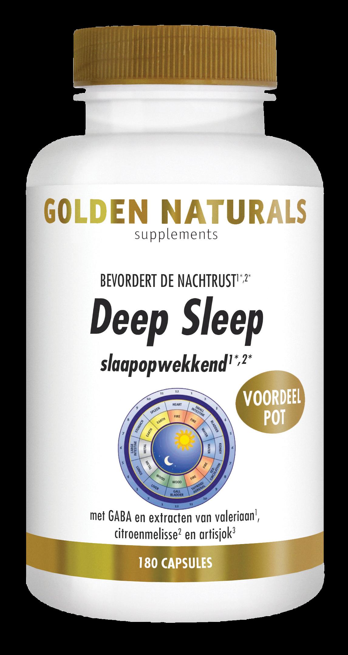 Golden Naturals Deep Sleep (180 veganistische capsules)