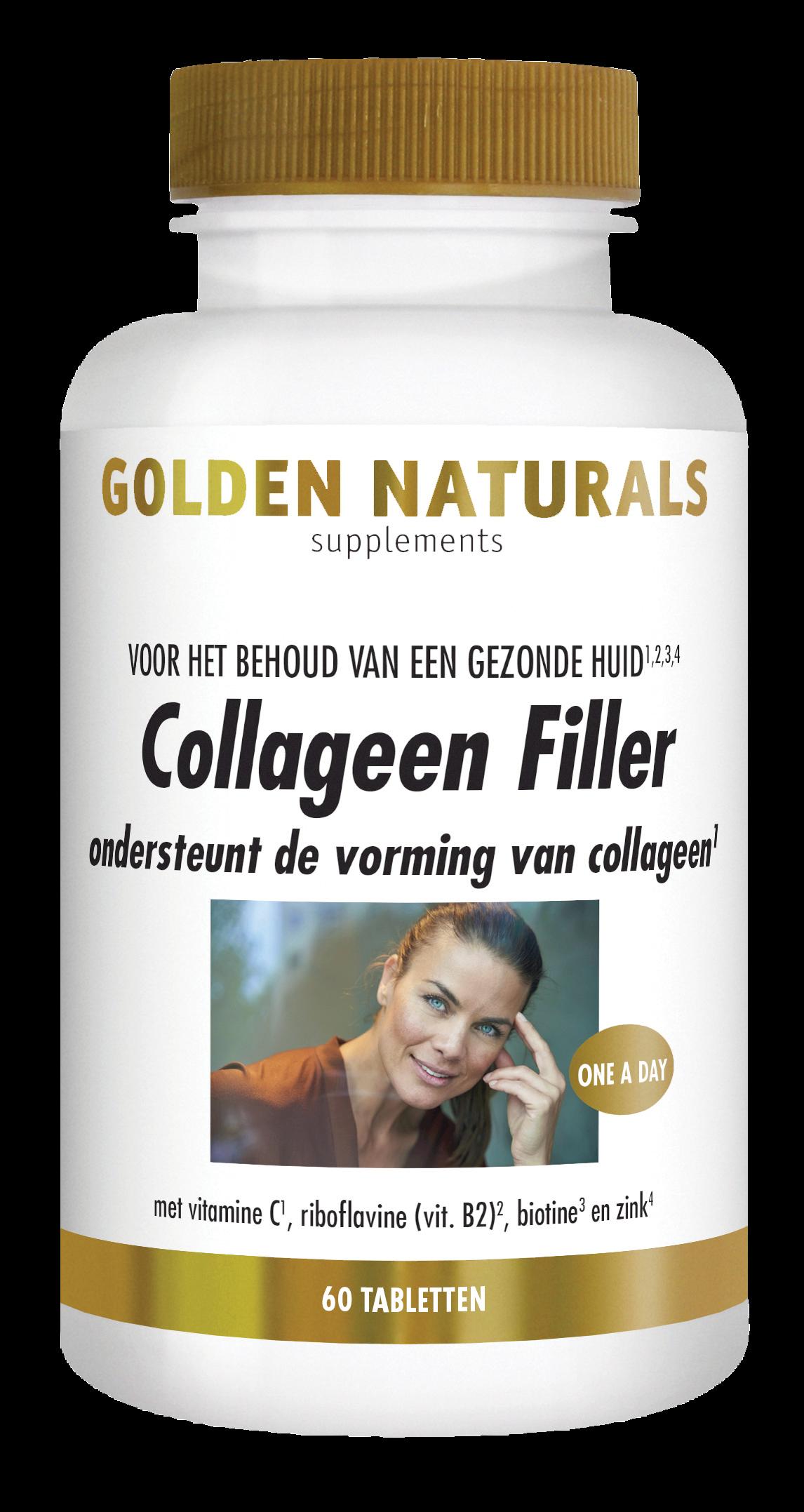 Golden Naturals Collageen Filler (60 tabletten)