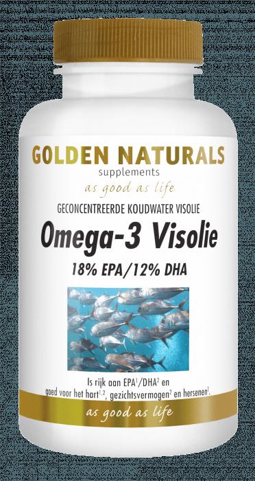 Golden Naturals Omega-3 Visolie 220 capsules