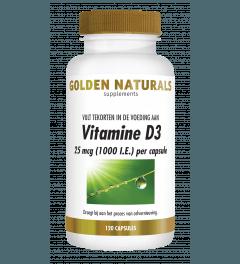 Golden Naturals Vitamine D3 25 mcg 1000 I.E. 120 softgel capsules