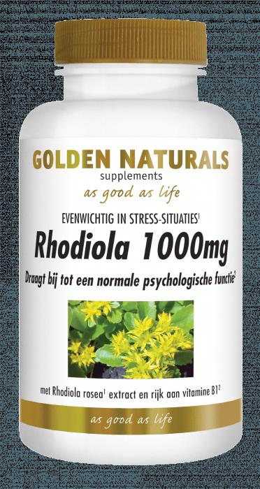 Golden Naturals Rhodiola 1000 mg 60 tabletten