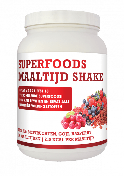 Natusor Superfoods Maaltijdshake Bosvruchten, Goji en Raspberry 432 gram
