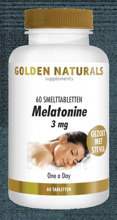 Golden Naturals Melatonine 3 mg 60 smelttabletten