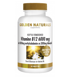 Golden Naturals Vitamine B12 6000 mcg 60 smelttabletten