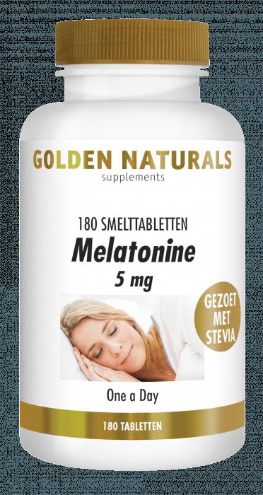 Golden Naturals Melatonine 5 mg 180 smelttabletten