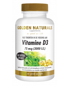 Golden Naturals Vitamine D3 75 mcg 360 softgel capsules