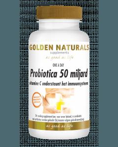 Golden Naturals Probiotica 50 miljard 14 vegetarische maagsapresistente capsules