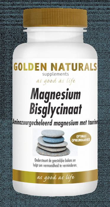 Golden Naturals Magnesium Bisglycinaat 60 tabletten