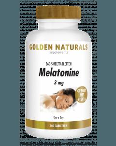 Golden Naturals Melatonine 3 mg 360 smelttabletten