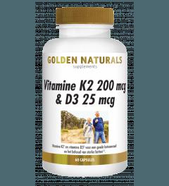 Golden Naturals Vitamine K2 200 mcg & D3 25 mcg 60 capsules