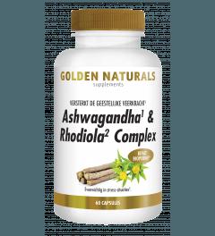 Golden Naturals Ashwagandha & Rhodiola Complex 60 vegetarische capsules