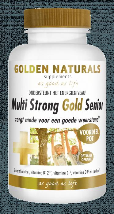 Golden Naturals Multi Strong Gold Senior 180 vegetarische capsules