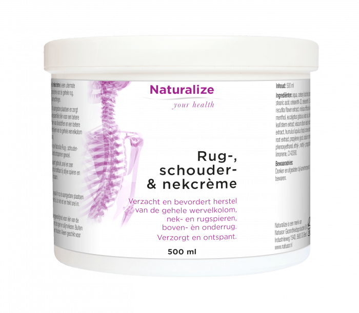 Naturalize Rug-, schouder- & nekcrème 500 milliliter