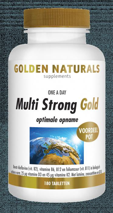 Golden Naturals Multi Strong Gold 180 tabletten