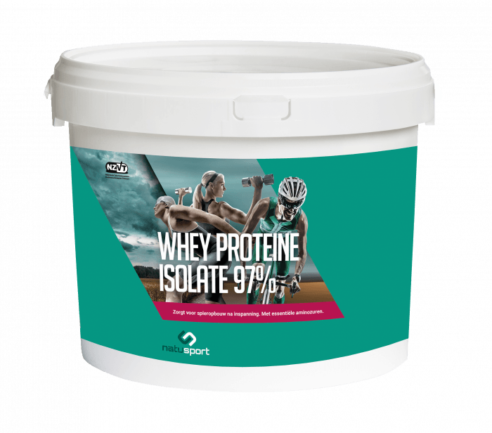 NatuSport Whey Protein Isolate 97% 5 kilogram