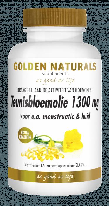 Golden Naturals Teunisbloemolie 1300 mg Extra Krachtig 120 softgel capsules