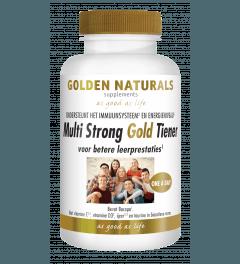 Golden Naturals Multi Strong Gold Tiener 60 vegetarische tabletten