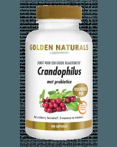 Golden Naturals Crandophilus 180 vegetarische maagsapresistente capsules