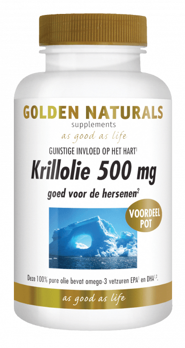 Golden Naturals Krillolie 500 mg 180 softgel capsules