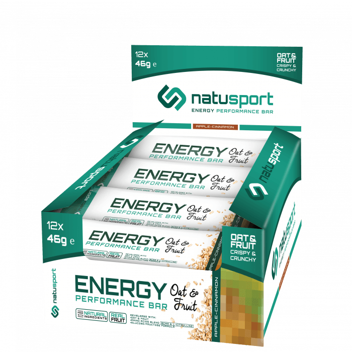 NatuSport Energy Performance Bar Oat&Fruit - Apple Cinnamon 12 x 46 gram
